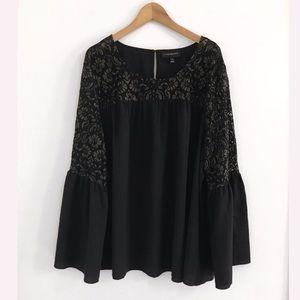 Lane Bryant Black Lace Top Blouse Shirt Size 24